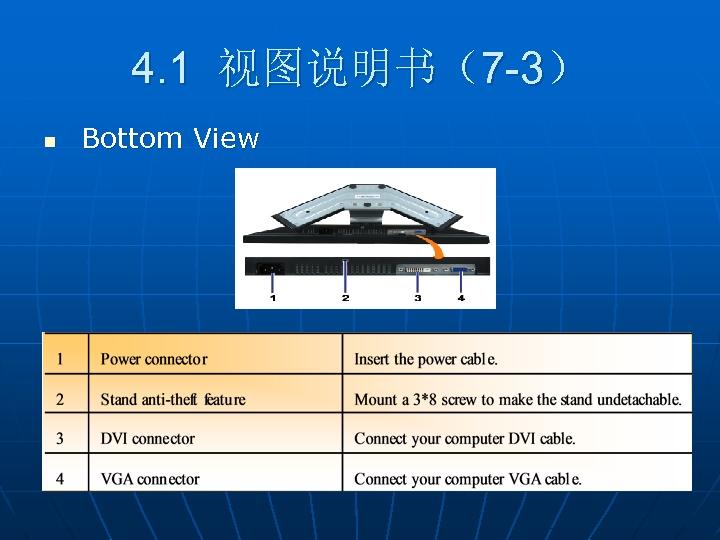 4. 1 视图说明书(7 -3) n Bottom View