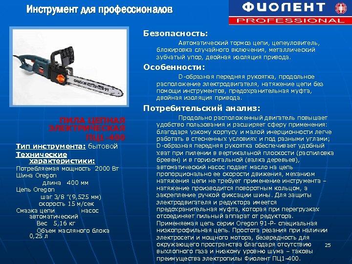 Инструмент для профессионалов Безопасность: Автоматический тормоз цепи, цепеуловитель, блокировка случайного включения, металлический зубчатый упор,