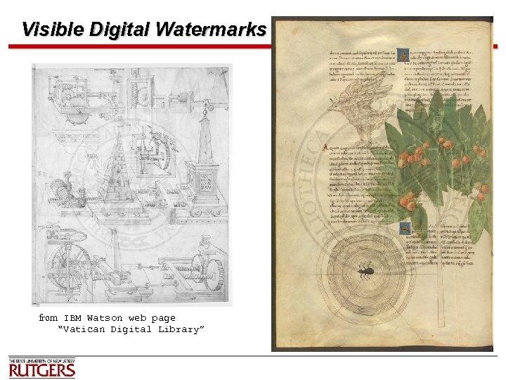 "Visible Digital Watermarks from IBM Watson web page ""Vatican Digital Library"""