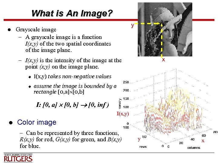 What is An Image? l y Grayscale image – A grayscale image is a