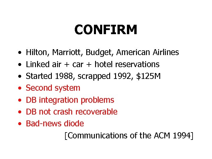 CONFIRM • • Hilton, Marriott, Budget, American Airlines Linked air + car + hotel