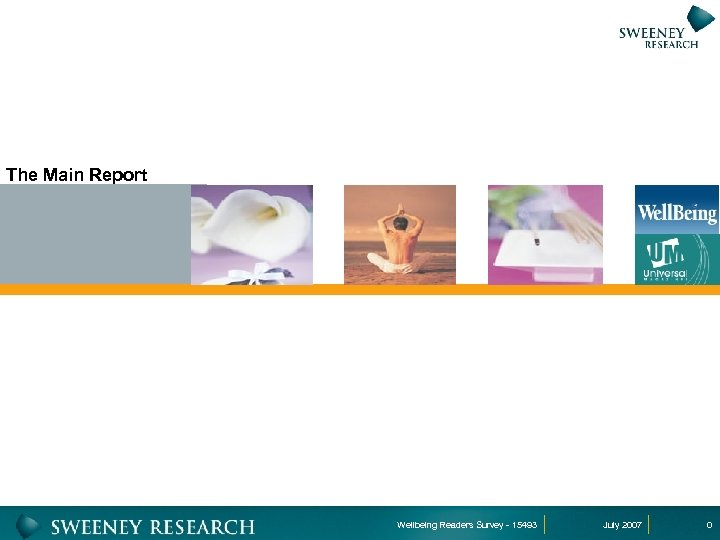 The Main Report Wellbeing Readers Survey - 15493 July 2007 0