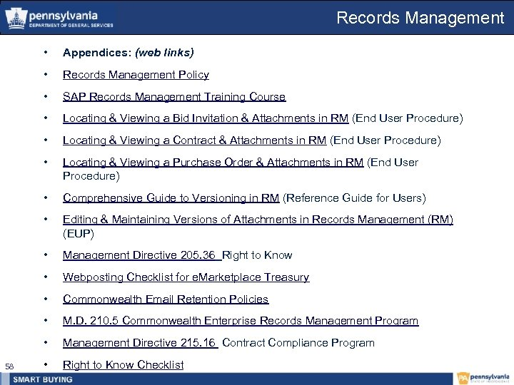 Records Management • • Records Management Policy • SAP Records Management Training Course •