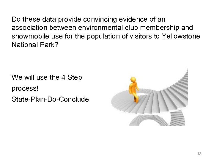 Do these data provide convincing evidence of an association between environmental club membership and