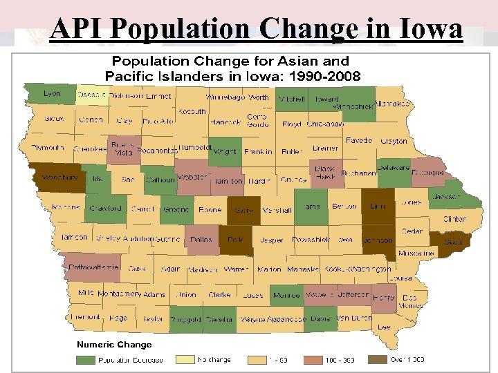 API Population Change in Iowa