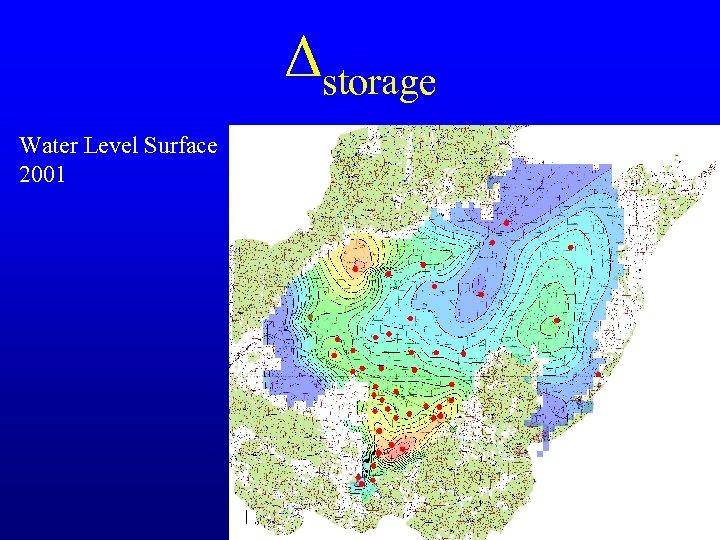 Δstorage Water Level Surface 2001