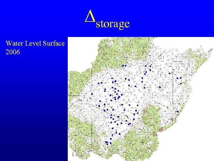 Δstorage Water Level Surface 2006