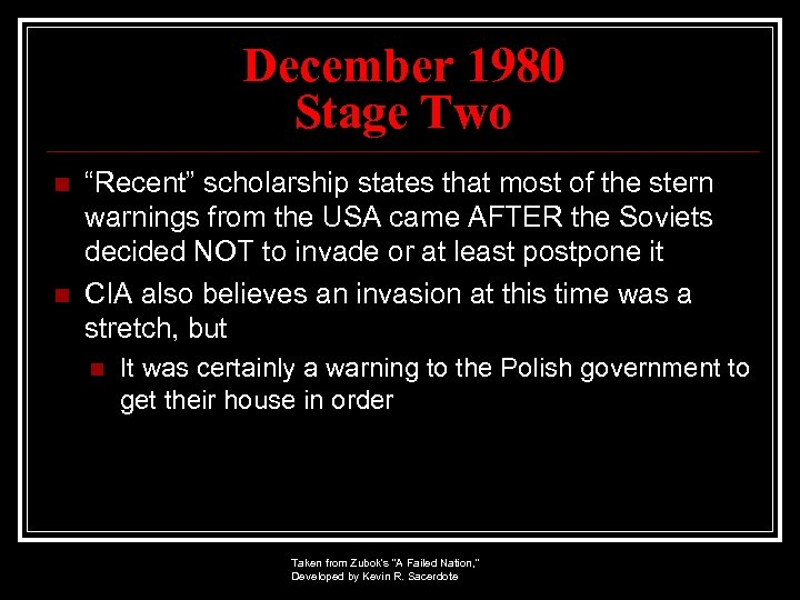 """December 1980 Stage Two n n """"Recent"""" scholarship states that most of the stern"""