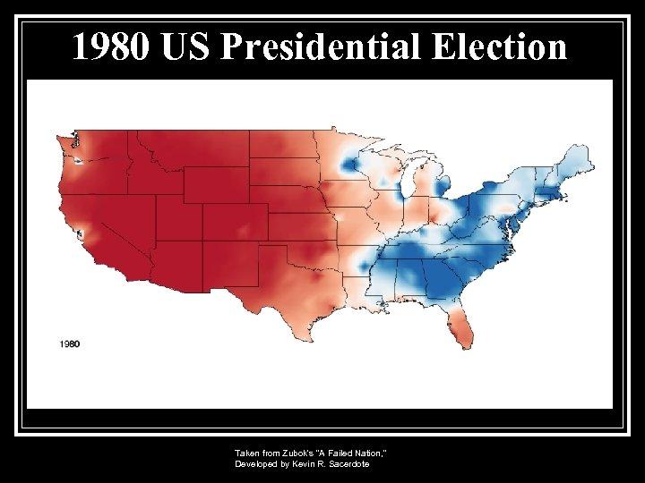 1980 US Presidential Election Taken from Zubok's