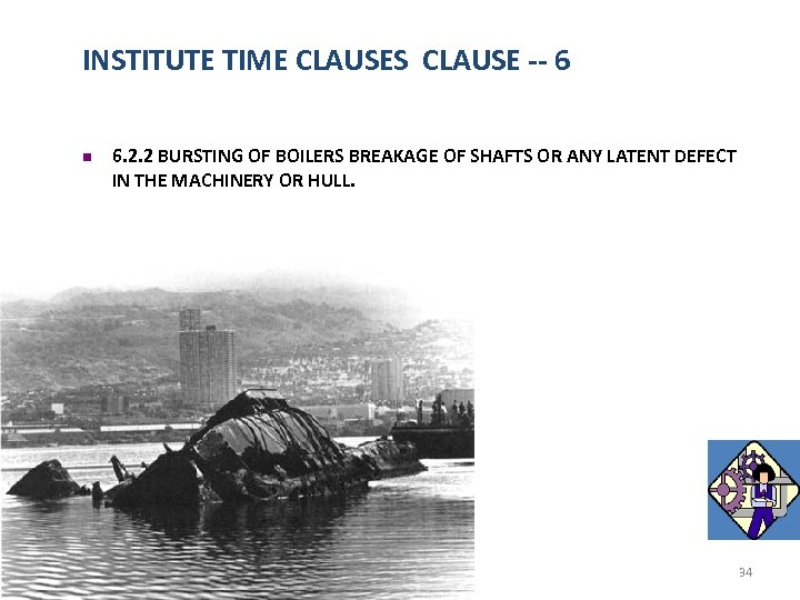 INSTITUTE TIME CLAUSES CLAUSE -- 6 n 6. 2. 2 BURSTING OF BOILERS BREAKAGE