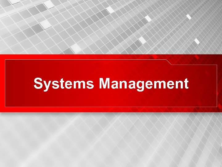 Systems Management 30