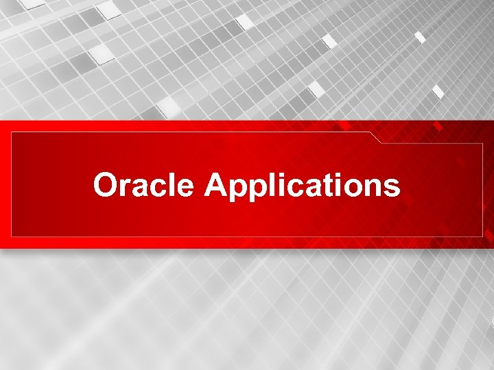 Oracle Applications 38