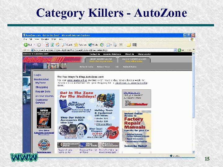 Category Killers - Auto. Zone 15