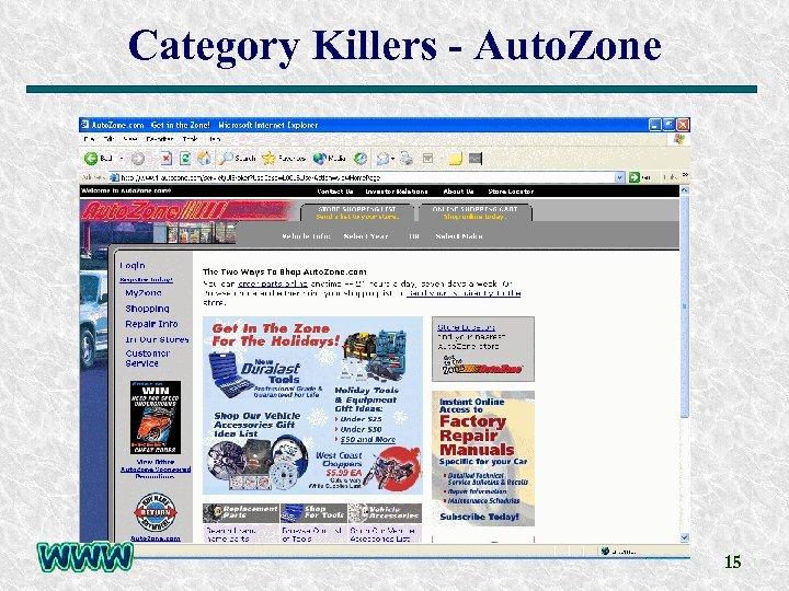 Category Killers - Auto. Zone 15
