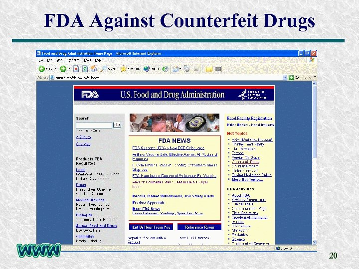 FDA Against Counterfeit Drugs 20