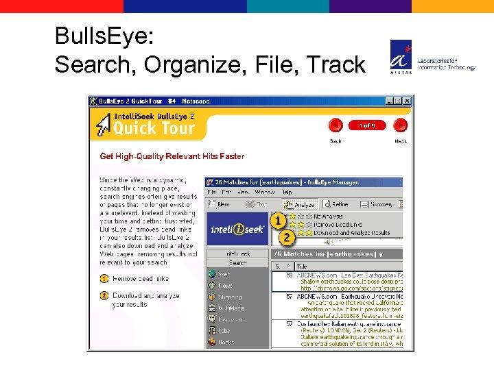 Bulls. Eye: Search, Organize, File, Track