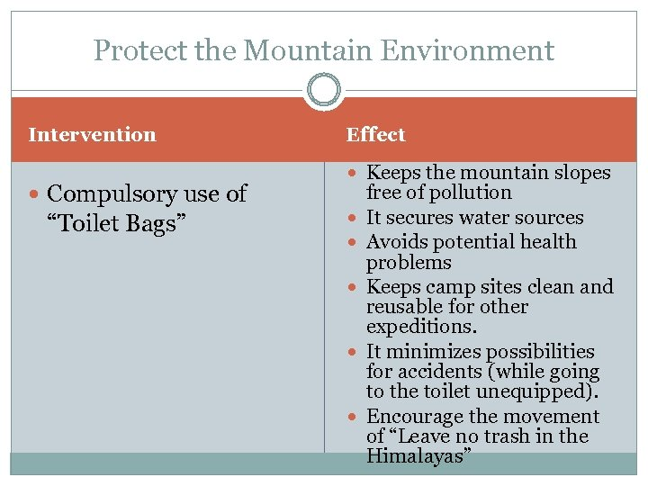 """Protect the Mountain Environment Intervention Compulsory use of """"Toilet Bags"""" Effect Keeps the mountain"""