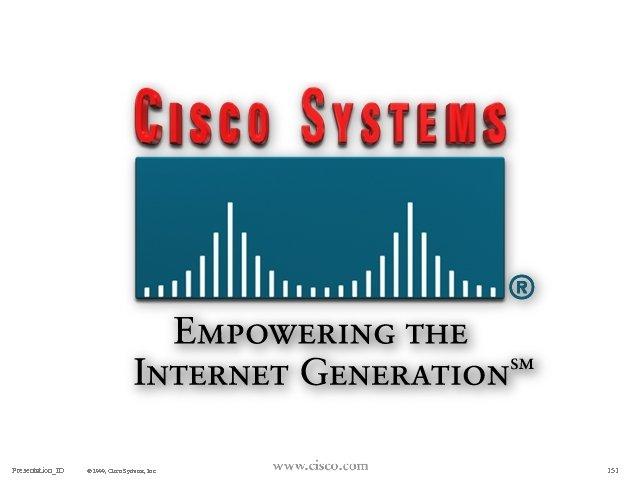 Presentation_ID © 1999, Cisco Systems, Inc. 151