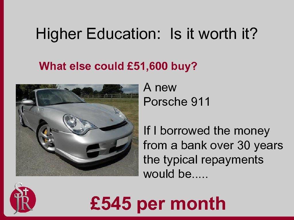 Higher Education: Is it worth it? What else could £ 51, 600 buy? A