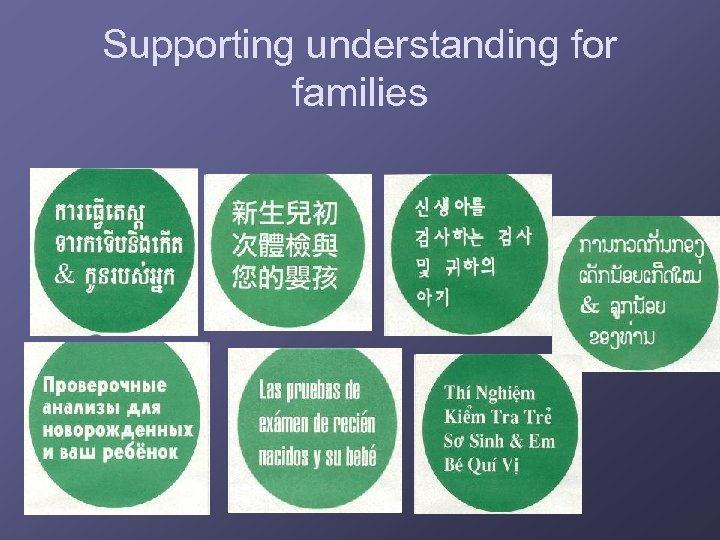 Supporting understanding for families