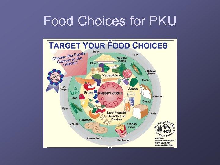 Food Choices for PKU