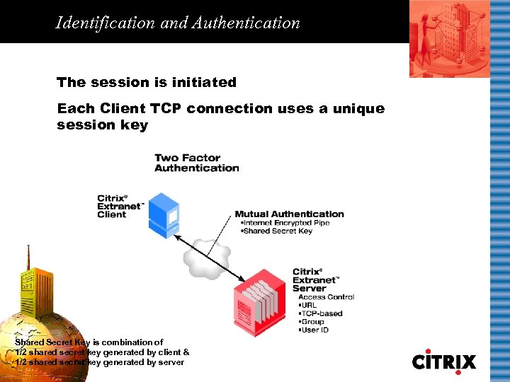 Identification and Authentication The session is initiated Each Client TCP connection uses a unique