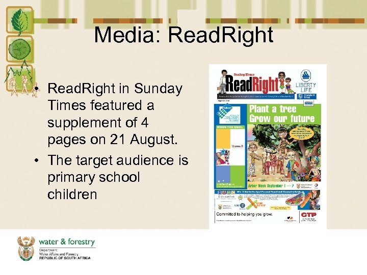Media: Read. Right • Read. Right in Sunday Times featured a supplement of 4