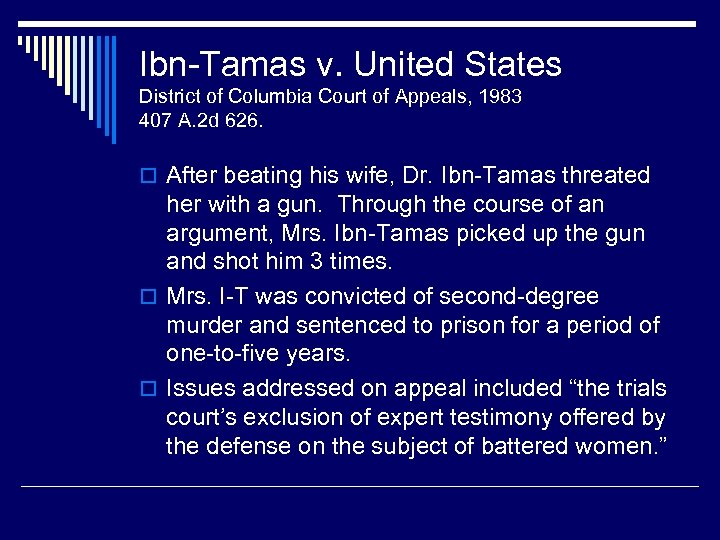 Ibn-Tamas v. United States District of Columbia Court of Appeals, 1983 407 A. 2