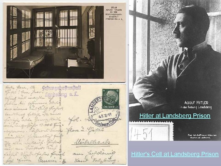 Hitler at Landsberg Prison Hitler's Cell at Landsberg Prison