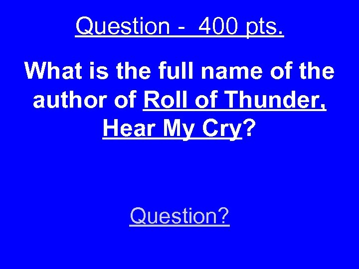 Question - 400 pts. What is the full name of the author of Roll