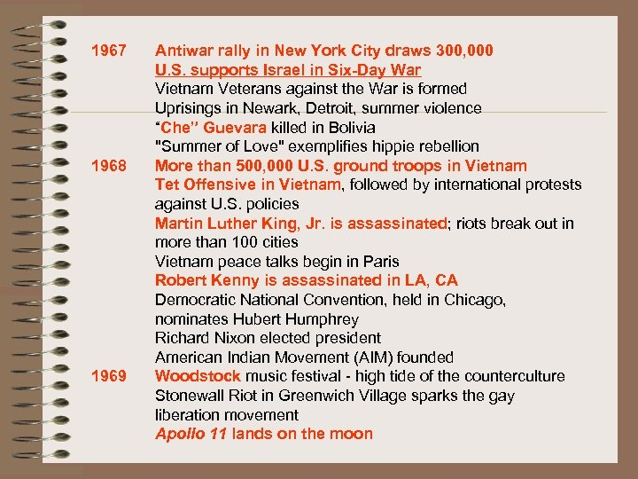 1967 1968 1969 Antiwar rally in New York City draws 300, 000 U. S.