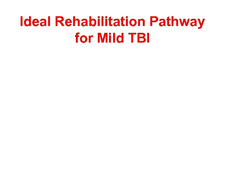 Ideal Rehabilitation Pathway for Mild TBI