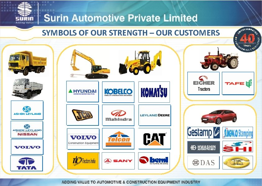 SYMBOLS OF OUR STRENGTH – OUR CUSTOMERS