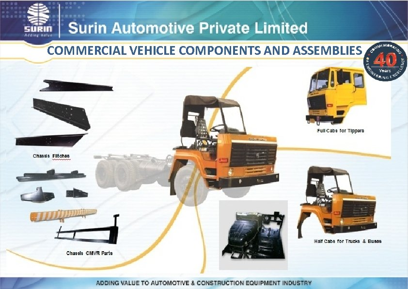 COMMERCIAL VEHICLE COMPONENTS AND ASSEMBLIES