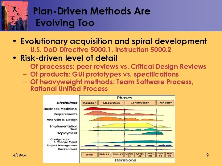 Plan-Driven Methods Are Evolving Too • Evolutionary acquisition and spiral development – U. S.