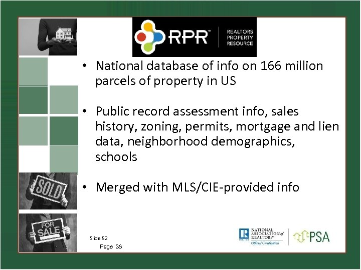 • National database of info on 166 million parcels of property in US