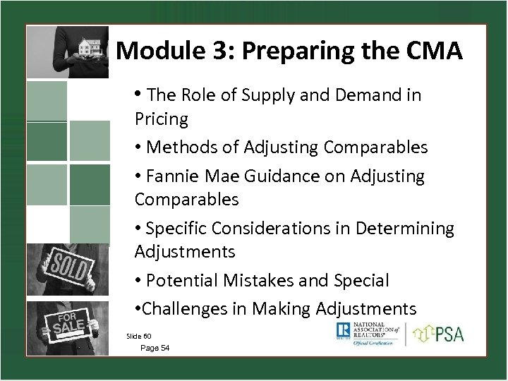 Module 3: Preparing the CMA • The Role of Supply and Demand in Pricing