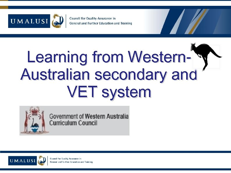 Learning from Western. Australian secondary and VET system