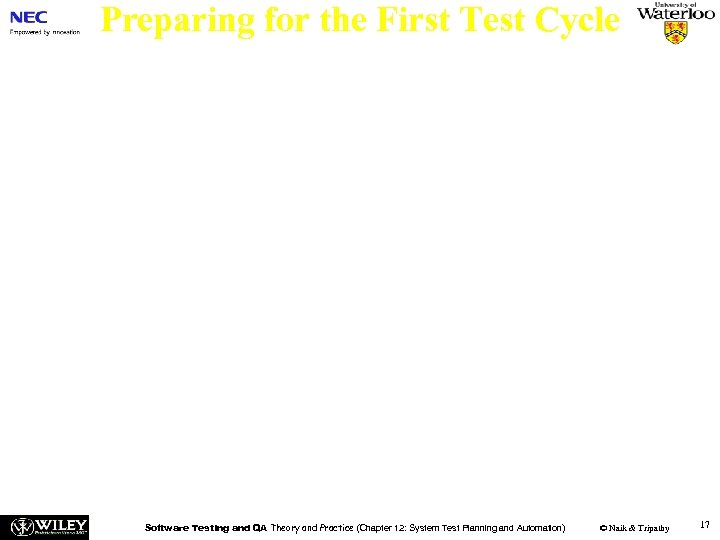 Preparing for the First Test Cycle n Life-cycle of a Defect – The life-cycle