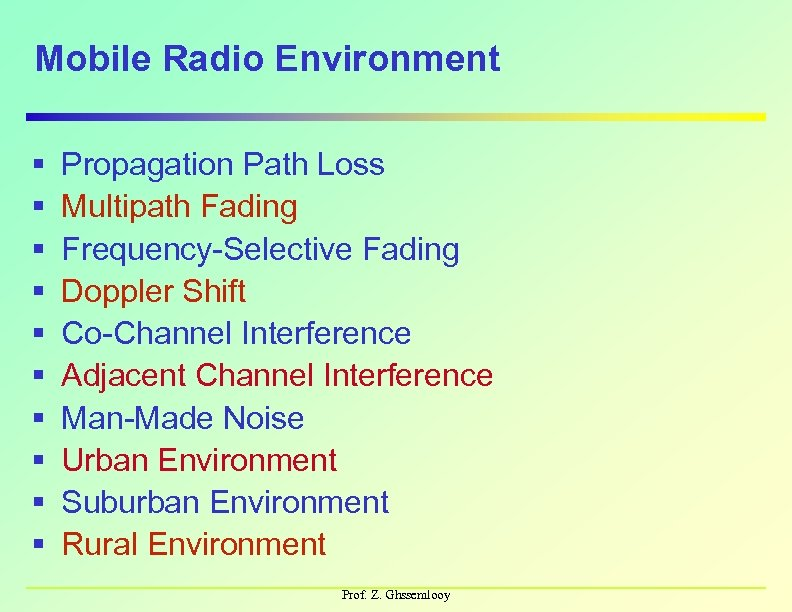 Mobile Communication Systems Part 1 — Introduction