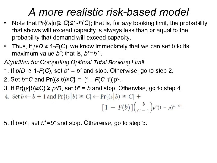 A more realistic risk-based model • Note that Pr{(s|b)≥ C}≤ 1 -F(C); that is,