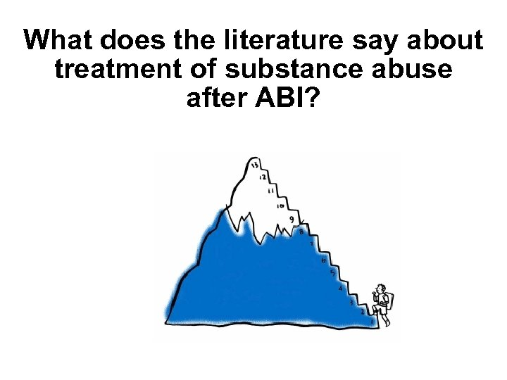 What does the literature say about treatment of substance abuse after ABI?