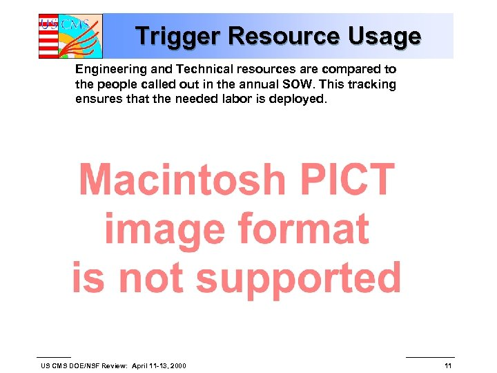 Trigger Resource Usage Engineering and Technical resources are compared to the people called out