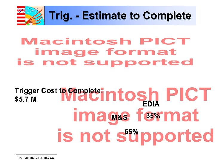 Trig. - Estimate to Complete Trigger Cost to Complete: $5. 7 M EDIA M&S
