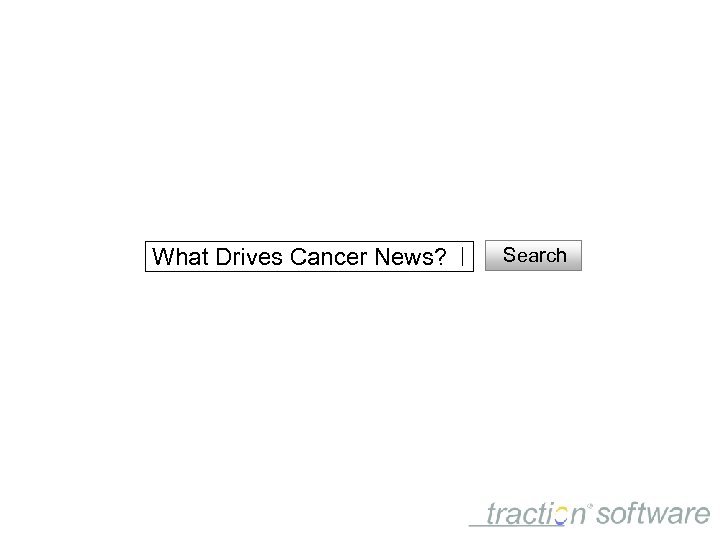 What Drives Cancer News? Search