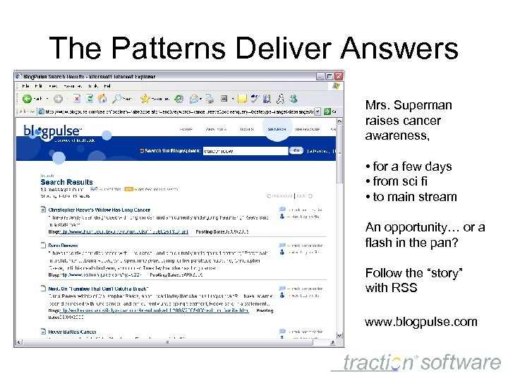 The Patterns Deliver Answers Mrs. Superman raises cancer awareness, • for a few days