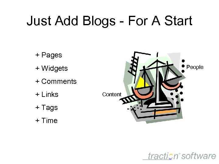 Just Add Blogs - For A Start + Pages People + Widgets + Comments