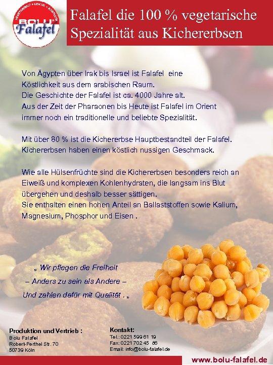 Falafel die 100 % vegetarische Spezialität aus Kichererbsen Von Ägypten über Irak bis Israel