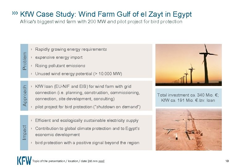Kf. W Case Study: Wind Farm Gulf of el Zayt in Egypt Approach Problem