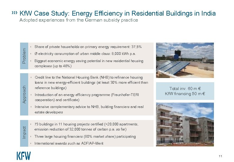 Kf. W Case Study: Energy Efficiency in Residential Buildings in India Problem Adopted experiences